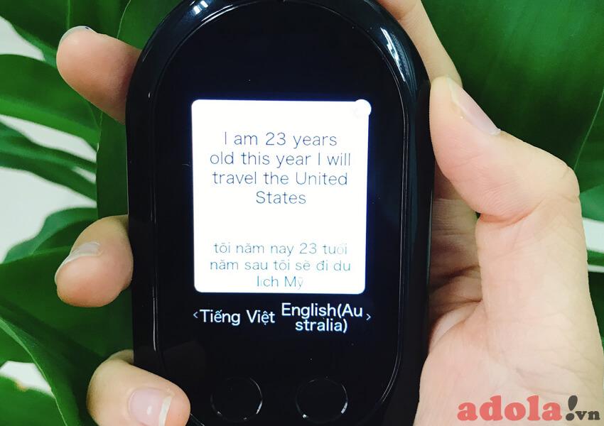 Bản dịch thực tế trên máy dịch cầm tay